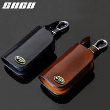 <b>SNCN</b> Genuine <b>Leather Car Key</b> Chain Wallets Cover Case Bag For ...