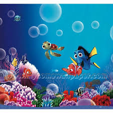 fish murals for kids | <b>Finding Nemo Cartoon</b> Wallpaper Murals for ...
