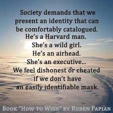 Quotes About Masks And Identity. QuotesGram via Relatably.com