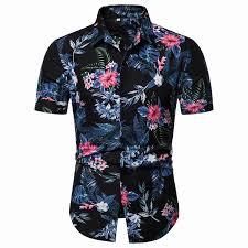 In Stock <b>Men's Floral Shirts</b> Short Sleeve Casual <b>Shirt Hawaiian</b> ...
