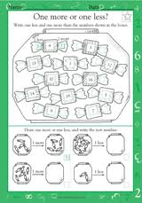 One More or One Less? - Math Practice Worksheet (Grade 1 ...One More or One Less?