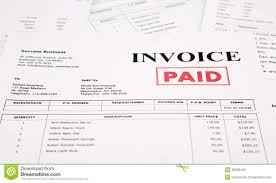 invoice and bills paid stamp stock photo image  invoice and bills paid stamp