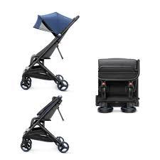 Прогулочная <b>коляска Xiaomi MITU</b> Baby Folding Stroller, голубая ...