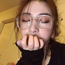 Korean <b>Transparent</b> Round Frame <b>Eyeglasses</b> And Plain ...