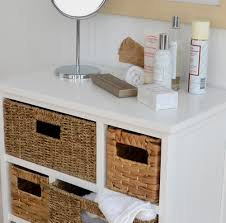 white storage unit wicker:  vin chest white