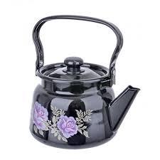 <b>Чайник эмалированный</b> с рисунком черный - <b>Сибирские товары</b> ...