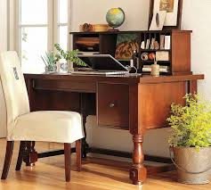 rustic office decorating idea with bucket container plant feat unique desk design and white upholstered chair charmingly office desk design home office office
