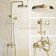 <b>Luxury Gold Color Brass</b> Single Handle Rain Shower Faucet Set ...