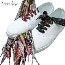 """120cm/47"""" Long of Flat Fashion <b>Checkered Ribbon</b> Shoelaces ..."""