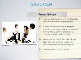 Market Research   course slides SlideShare Comparison of Qualitative Techniques