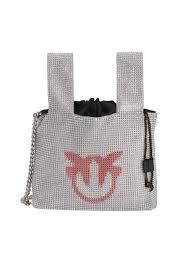 Маленькая <b>сумка</b>-<b>шоппер</b> со стразами PINKO → Купить онлайн