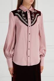 Атласная <b>блузка</b> с вышивкой <b>Wandering</b> | <b>блузы</b> и блузки ...