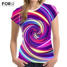 <b>FORUDESIGNS</b> Multicolor Swirl Background Pattern <b>T Shirts</b> ...