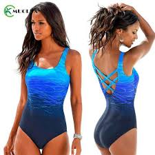<b>MUOLUX 2019</b> Vintage Print One Piece <b>Swimsuit Women</b> ...