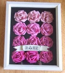 <b>Handmade Cardstock Paper Rose</b> Shadowbox, Ombre Wall Art with ...