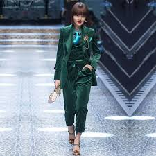CUSTOM Dark green women business suits <b>3 piece set women</b> ...