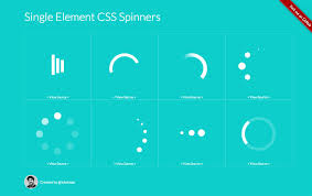 <b>Single Element</b> CSS Spinners