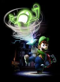 Luigi cazando un fantasma