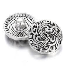 <b>10Pcs</b> New Snap Jewelry Antique Silver Vintage Knot <b>18mm</b> Snap ...