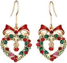<b>Neoglory</b> Blue Heart Crystal Drop <b>Earrings</b> Rhinestone <b>Platinum</b> ...