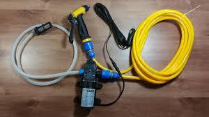 Unboxing portable high pressure car wash pump kit 12V <b>80W</b> 130PSI