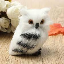 <b>Cute Lovely Owl</b> White Black Furry Christmas <b>Bird</b> Ornament ...