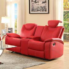 awesome red leather reclining sofa smalltowndjs with leather sofa recliner awesome italian sofas