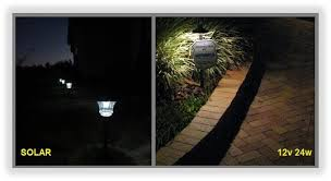 we can also get custom lengths manufactured for steps flower beds address plaques or in this case an alarm company sign and a walkway area lighting flower bed