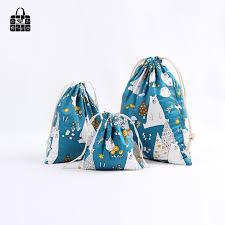 <b>1ps</b> Blue bear cotton linen fabric dust cloth bag Clothes travel ...
