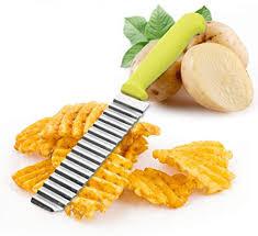 JUNSHUO <b>1PCS</b> Stainless Steel Serrated <b>Potato Chips Cutter</b> for ...