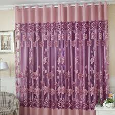 fashion modern organza finished window screning curtain