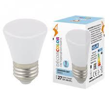 <b>Лампа</b> светодиодная <b>LED</b>-<b>D45</b>-<b>1W</b>/<b>6000K</b>/<b>E27</b>/<b>FR/С BELL</b> 6000K ...
