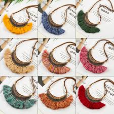 2019 <b>New Vintage Bohemian</b> Tassel Necklace <b>Ethnic</b> Short leather ...