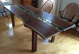 long wood dining table: make your own trees wood dining table glass insert long centerpiece diy dark furnished wood