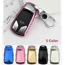 <b>KUKAKEY</b> 5 Colors Remote Smart <b>TPU Car</b> Key Case For Audi ...