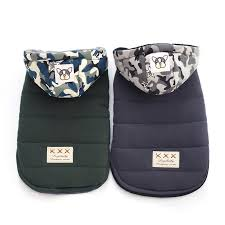 Camouflage Hat Cotton Coat Pet <b>Dog Clothes Autumn and</b> Winter ...