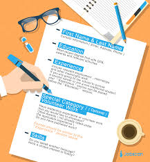 resume templates guide jobscan the blue headings show the framework of a good chronological resume the information below those headings are examples of how to fill in those blocks