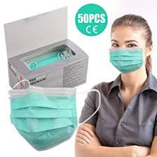 Buy <b>50PCS 3-Layer Face</b> Mask with Earloops,Breathable and ...