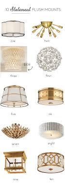 lighting living room complete guide:  flush mount lighting options that make a statement