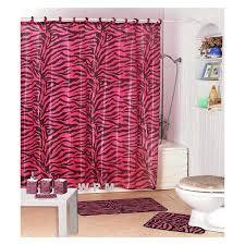 zebra print bathroom accessories bath set