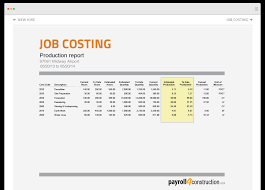 construction reports payrollconstruction job costing