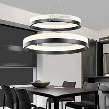 two sizes modern contemporary 2 rings pendant light ceiling lamp circles led chandelier dining room indoor ceiling dining room lights photo 2