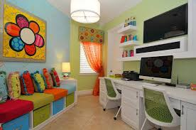 small home office and playroom combo with plush seating and built in storage design amazing playroom office shared space
