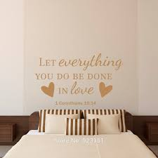 bedroom quotes wall stickers bible verse quotes let everything wall art stickers decal home diy dec