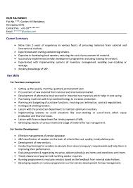 doc 9051280 best resume format for purchase executive jobs now
