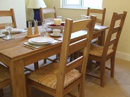 oak dining table natural wood interesting natural rattan dining chairs for your dining room decor id