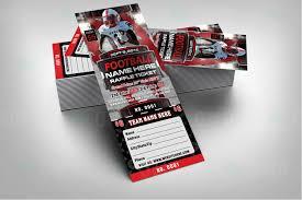 sports invites halftime football raffle ticket template raffle ticket design 6 product 4