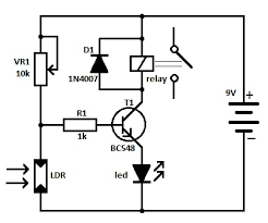 light operated relay circuit light operated relay schematic