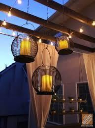 deck decorating ideas pergola lights and cement planters bright ideas deck