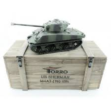 <b>Радиоуправляемый танк Torro Sherman</b> M4A3 76 mm Metal ...